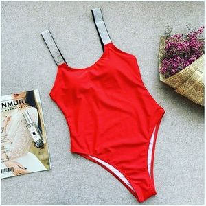 Red One Pieces Swimsuit